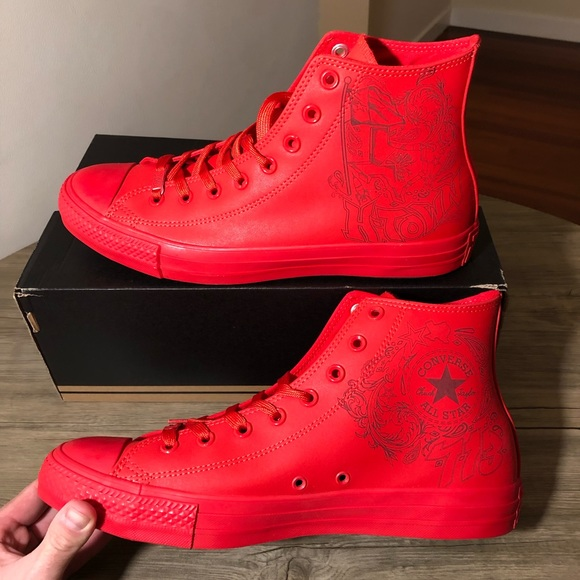 """low priced c0a09 a1c70 NEW - Converse """"HTown"""" High Top Sneakers"""